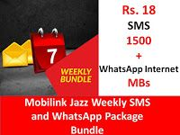 Mobilink Jazz Weekly Sms And Whatsapp Package Bundle Jazz Sms Packaging