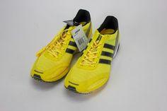 a82255b5cca Adidas Adizero Adios 1 Haile Men s Sneakers Running Shoes Neon Yellow Size  12.5  Adidas