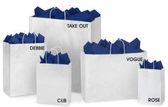 White Paper Shopping Bags in Stock - ULINE