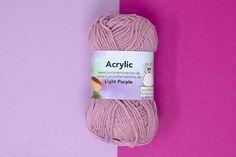 Køb akrylgarn her hos os på www. Light Purple, Knitted Hats, Winter Hats, Knitting, Lily, Tricot, Breien, Stricken, Weaving