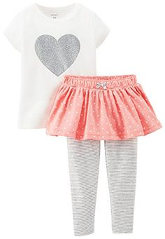 Carters 2 Piece Skirted Legging Set Baby  Ivory24 Months >>> Click image to review more details.