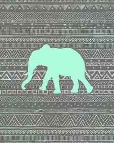 Fondo tribal con elefante