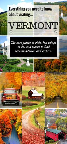 Find out where the best places to visit are in Vermont along with idea's on things to do, where to find the best deals on accommodation and airfare! Vermont bucket list including pretty covered bridges, country stores, ben n jerry's, cheese tours and fall foliage.