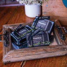 Rustic Wood Decorative Tray with Ornamental Handles    - Shop on WeddingWire! Chalkboard Print, Chalkboard Wedding, Shabby Chic Centerpieces, Mini Chalkboards, Rustic Vanity, Wedding Favor Boxes, Wedding Ideas, Favour Boxes, Wedding Inspiration