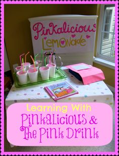 Math, art and pretend play.  Learning with Pinkalicious and the Pink Drink. | from Creekside Learning