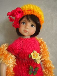 for 13 effner little darling ooak handknit set in Dolls & Bears, Dolls, By Brand, Company, Character, Other Brand & Character Dolls | eBay