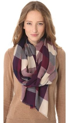 Club Monaco Isabel Scarf  More ways to tie a scarf