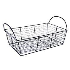 Stella Rectangular Utility Wire Basket - Black