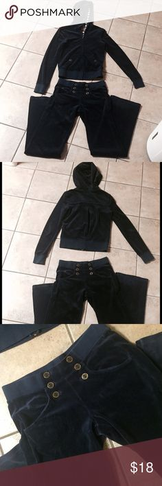 Juicy Couture Dark Blue Velour Tracksuit Size XS Great conditions. Really cute. Bottoms size P & top size XS Juicy Couture Other