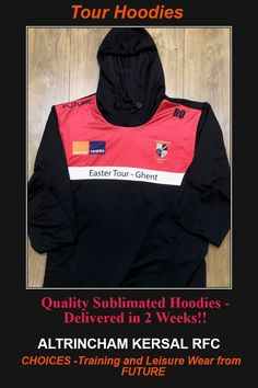 CHOICES by Future! Quality with an ultra-quick Delivery! #Hoodies #1/4 Zips #Polos #Tracktops #Skinnys #Training Shorts/Shirts #Rainjackets etc Check out Tour Hoodies Altrincham Kersal RFC!