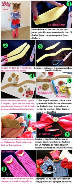 DIY Déguisement Sailor Moon partie 3 - Costume - Carnaval - Cosplay - Manga
