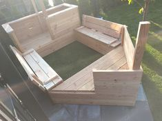 DIY Piratenschiff-Sandkasten Lotta's sandbox was completely over after two years and several rep Backyard Playground, Backyard Games, Children Playground, Diy Table Top, Outdoor Play Areas, Play Yard, Play Houses, Outdoor Furniture Sets, Wooden Furniture