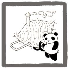アンアン・ミニコミで連載していたパンダの絵   <byパンツ屋エディ>   1977年10月5日号掲載