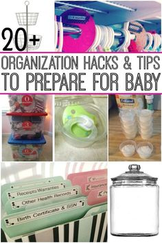 Get everything ready for baby with these organization hacks. If you feel like there's stuff everywhere, you will thank yourself for looking at these hacks for all things baby! Organization Hacks for Everything that Baby Needs megan swanson pintetes Getting Ready For Baby, Preparing For Baby, One Month Baby, Baby Time, Baby Outfits, 5 Weeks Pregnant, Beyonce Pregnant, Organizing Hacks, Pregnancy