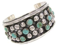 Sterling Silver And Kingman Turquoise Bracelet IS61095