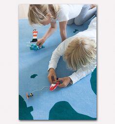 Beispiel Teppich Nordsee U2013 Bodenschätzchen I Individuelle Kinderteppiche Selbst  Gestalten