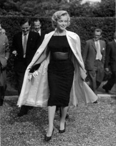Marilyn in England for the filming of The Prince and the Showgirl, 1956.