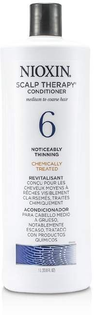Nioxin System 6 Scalp Therapy Conditioner For Medium to Coarse Hair, Chemically Treated, Noticeably Thinning Hair
