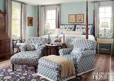 chair & ottoman - House of Turquoise: LEO Interiors