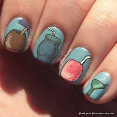 OMG ~ NAILED IT!!  Tropical drinks on your nails - perfect for getting ready for your cruise!!! #PinUpLive