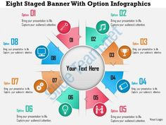 0115 eight staged banner with option infographics powerpoint template