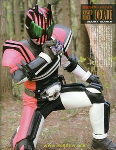 kamen rider #decade http://en.wikipedia.org/wiki/Kamen_Rider_Decade