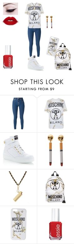 """""""Burnt"""" by kissesari on Polyvore featuring Love Moschino, Moschino and Essie"""
