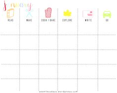 FREE printable monthly family planner