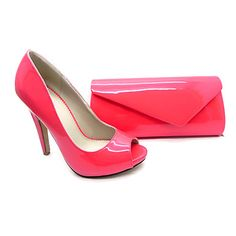 Women's Shoes Peep Toe Stiletto Heel Pumps Shoes Matching Clutches Bag More Colors available – USD $ 44.99
