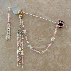Moonstone & Swarovski crystals.