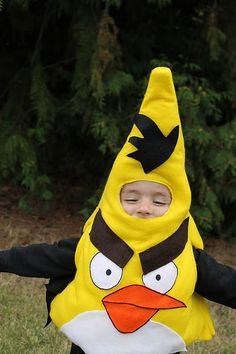 family Angry Birds costumes (tutorial)