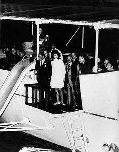 "Aristotle and Jackie O all smiles while out on the deck of the yacht ""Christina."""