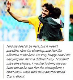 This is why I have absolute admiration & respect for this man! #Kaká