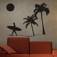Surfer and Beach Scene Palm Trees Decal Wall Sticker Viny... https://www.amazon.com/dp/B0110K6Z4S/ref=cm_sw_r_pi_dp_aoHCxbDCMX1RY