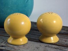 Vintage fiesta ware slat and pepper shakers.