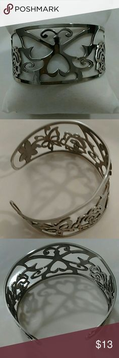 Stainless Steel Butterfly Cuff Bracelet Stainless steel butterfly cuff bracelet. New without tags. Comes with gift box. Jewelry Bracelets