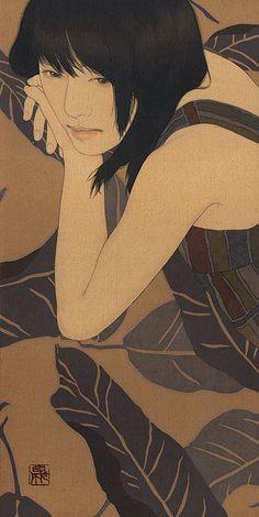 Kai Fine Art is an art website, shows painting and illustration works all over the world. Japan Illustration, Japanese Art Modern, Japanese Artists, Art Du Monde, Tachisme, Culture Art, Art Japonais, Wow Art, Japanese Painting