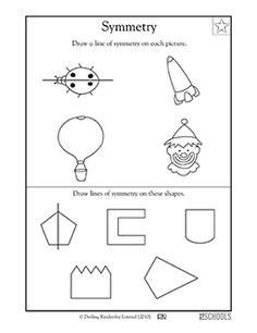 Here's a page on finding and drawing lines of symmetry