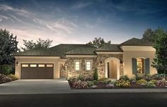 Looking for your next place to call home? Explore our NEW HOMES for sale throughout the East Bay and Bay Area! Home Builder Shea Homes offers beautifully designed and built homes at competitive pricing. Small Mediterranean Homes, Mediterranean Architecture, Mediterranean Design, Bungalow House Design, Modern House Design, One Story Homes, Florida, House Styles, Exterior Homes