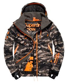 Shop Superdry Mens Ultimate Snow Service Jacket in Black Ice Camo. Tactical Hoodie, Tactical Wear, Superdry Jacket Men, Superdry Fashion, Ski Et Snowboard, Raiders Shirt, Mens Outdoor Jackets, Streetwear Jackets, Cargo Pants Men