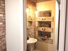 drawer flip, bathroom ideas, shelving ideas, woodworking projects