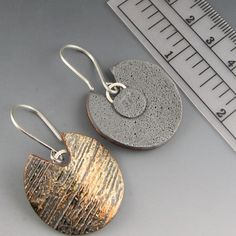 Striped Patina rustic polymer clay and by StonehouseStudio