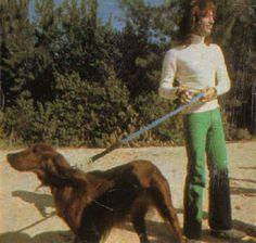 Robin Gibb with dog