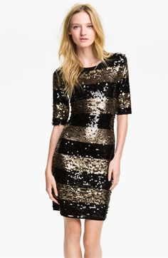 Max Azria Sequin Stripe Sheath Dress - Nordstrom