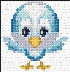 Cross Stitch | Blue Bird xstitch Chart | Design