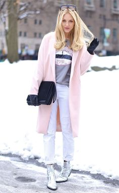 Pink Jacket & Silver Boots <3