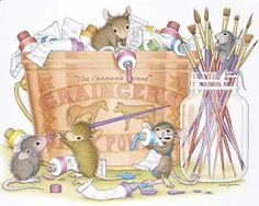 """Monica, Mudpie, Maxwell, Muzzy and Amanda featured on The Daily Squeek® for June 14th, 2014. Click on the image to see it on a bunch of really """"Mice"""" products."""