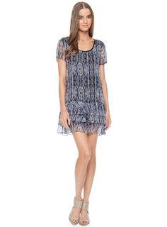 Ella Moss Renaissance Silk Print Dress