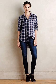 Synopses Plaid Buttondown - #anthrofave by Artisan de Luxe