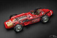 Maserati 250F, #2 French GP driven by J.M. Fangio, 1957 - model made by CMC in 1:18th scale. See-through.